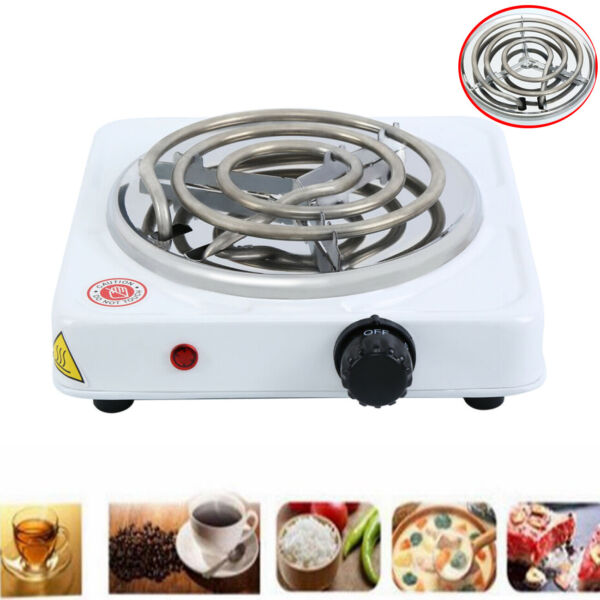 Kitchen Single Electric Burner Hot Plate Stove Dorm RV Travel Cook Countertop