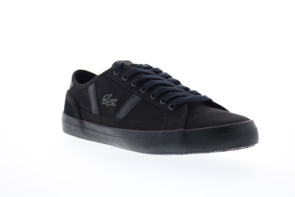 Lacoste Sideline 119 1 CMA Mens Black Canvas Lace Up Lifestyle Sneakers Shoes 12