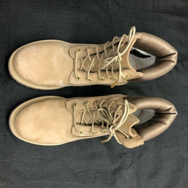 Womens Timberland Winter Fashion Boots Yellow Leather Size 7 7.5 Insulated $55.00