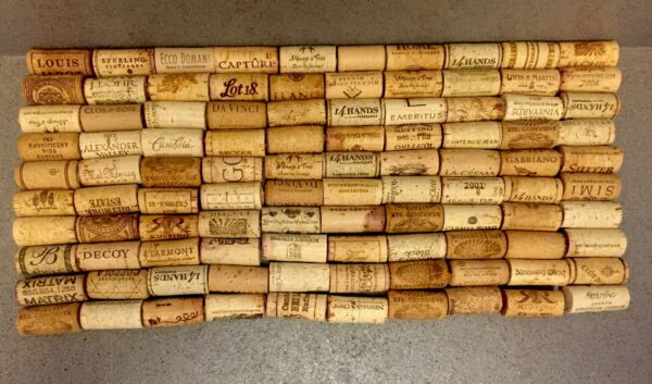Used Wine Wooden Corks in Lot of 100 Crafts Projects