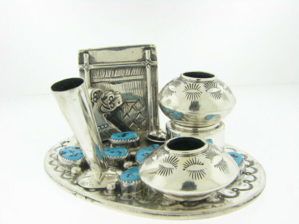 Pen Set Navajo Weaver and Turquoise by Navajo Artist Tommy Moore $399.00