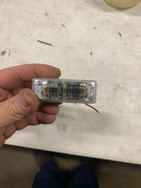 WHELEN LIN3 LED LIGHT with bezel and gasket Red SMART