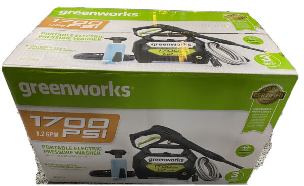 Greenworks GPW1704 1700 PSI 1.2 GPM Cold Water Electric Pressure Washer