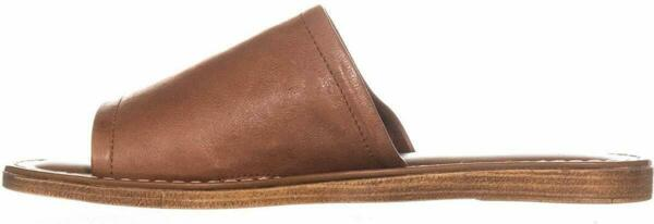 Bella Vita Women#x27;s Shoes Rositaly Leather Open Toe Casual Slide Brown Size 8.5