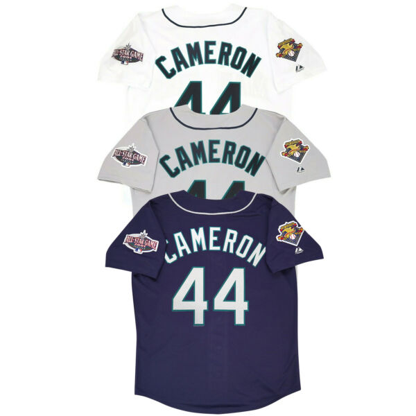 Mike Cameron 2001 Seattle Mariners Home amp; Road Men#x27;s Jersey w All Star Patch $109.99
