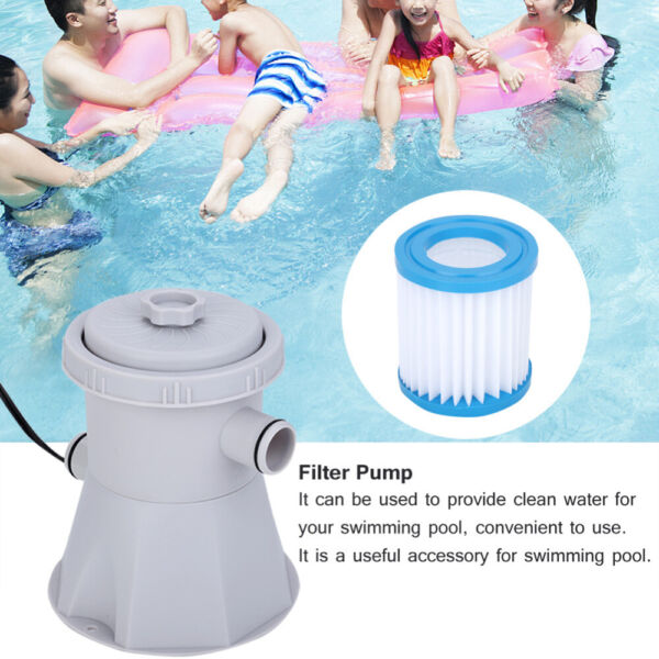 NEW 300 GPH Above Electric Ground Swimming Pool Cartridge Filter Pump Cleaning $42.99