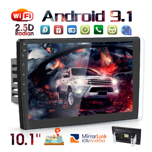 10.1quot; Android9.1 Car Stereo Radio GPS Navi MP5 Player Double 2Din WiFi Quad Core $131.99