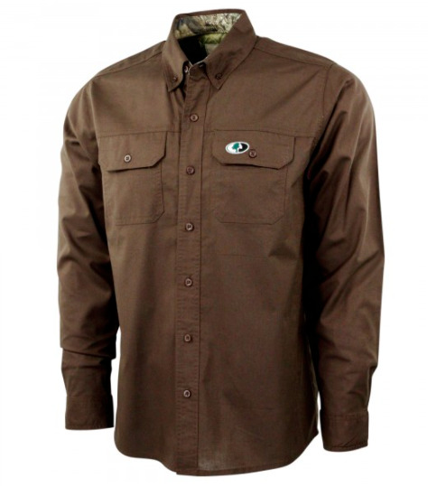 Mossy Oak Long Sleeve Lodge Shirt Men#x27;s XL