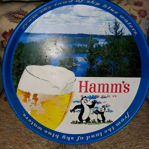 Vintage Hamm#x27;s Beer Bear Tray Land of Sky Blue Waters