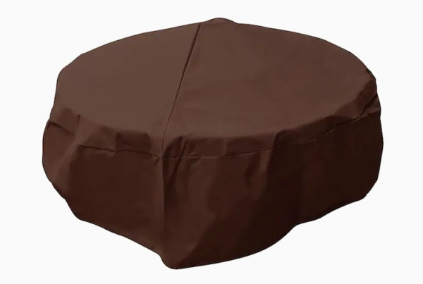 Elemental Outdoor Covers Premium Round Fire Pit Cover 38quot; x 18quot; Water Resistant $14.99
