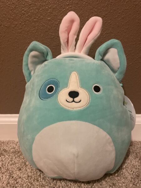 Squishmallow Easter Dog With Bunny Ears 8quot; Limited Edition NWT $17.99