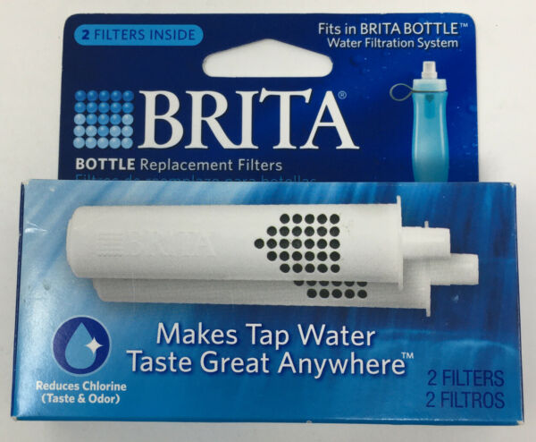 Brita Water Bottle Replacement Filters Old Style Soft Squeeze 2 Pack BB02 NEW