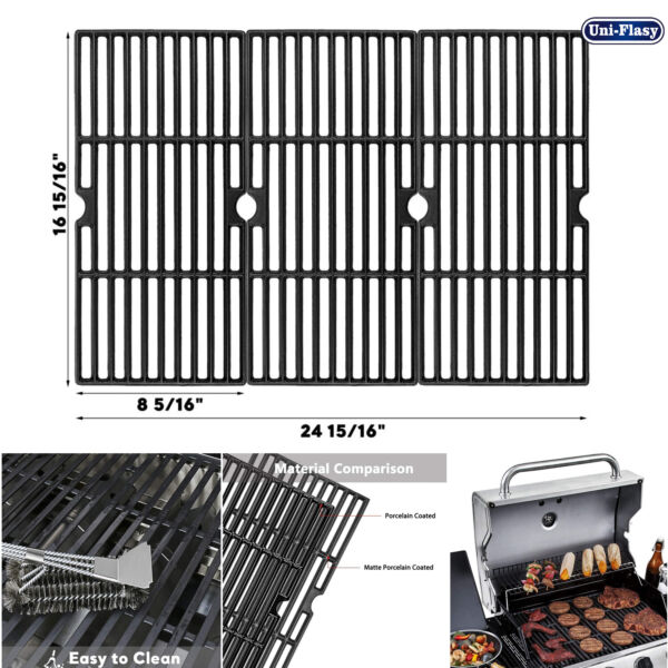 Cast Iron Cooking Grates for Charbroil Advantage 463343015 463344015 463344116