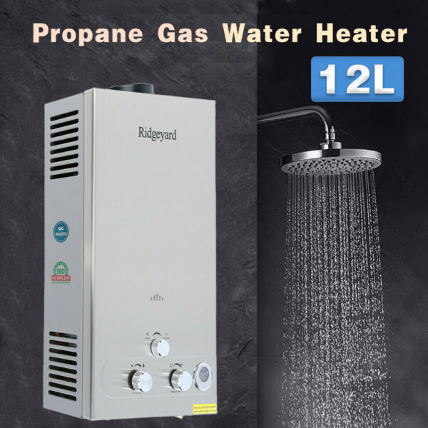 12L Hot Water Heater Propane Gas LPG 3.2GPM Tankless Instant Water Boiler Home $89.58