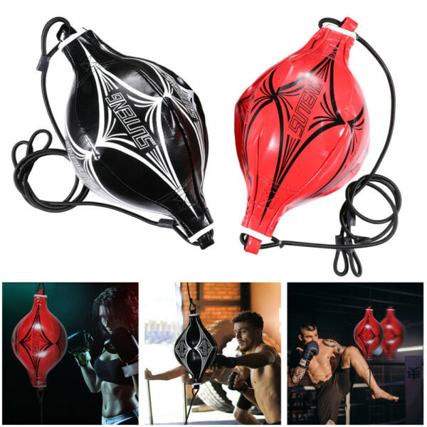 Double End Speed Ball Boxing Dodge Bag MMA Focus Punching Floor to Ceiling Rope $19.85