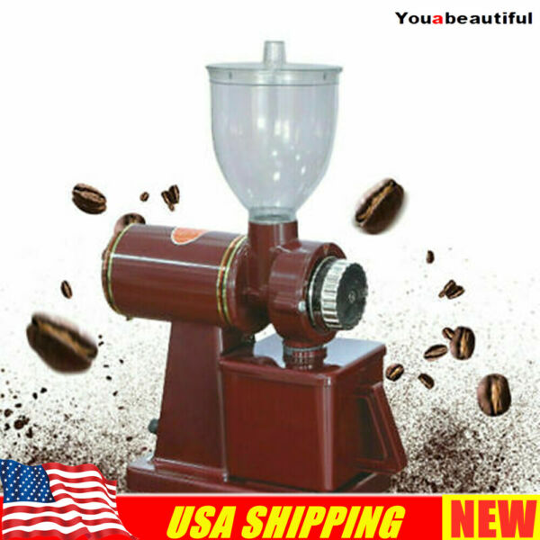 Commercial Electric Automatic Coffee Grinder Burr Espresso Bean Home Grind Red $57.95
