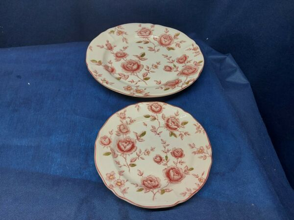 Tablemates China Homestead Collection quot;Rose Gardenquot; Dinner Plate amp; Salad Plate