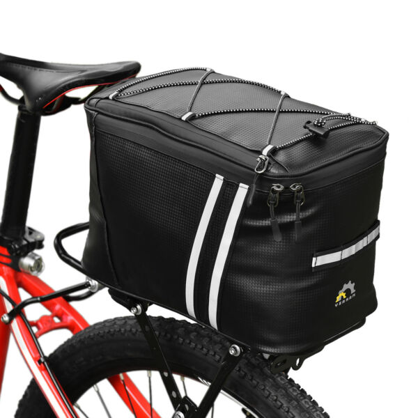 Bike Trunk Bag Waterproof Cycle Rack Pack Pannier Cycling Rear Tail Seat Pouch $21.99