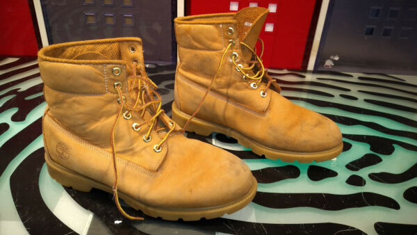 Timberland Work Boots Decent Condition Beige Mens Size 10.5 Leather C $59.00