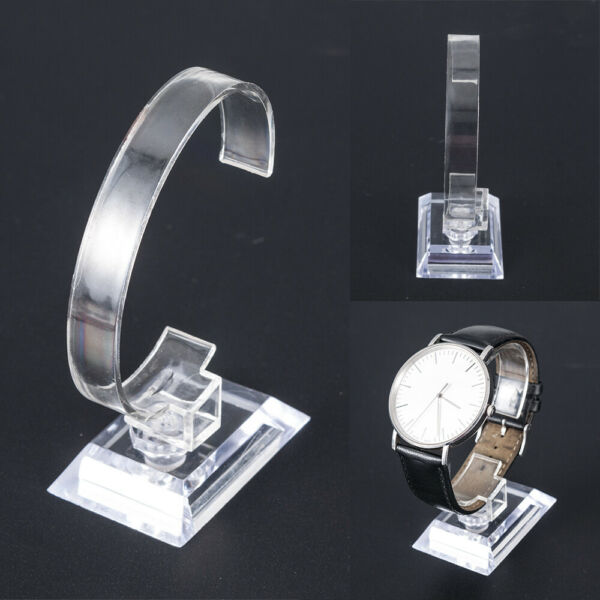 Clear Plastic Wrist Watch Display Stand Holder Rack Show Case DIY Stand Tools $1.46