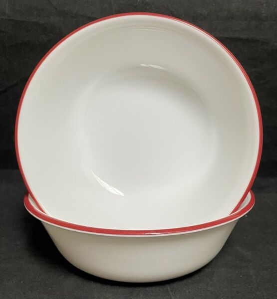 Corelle by Corning HOT DOTS 2 Cereal Bowls 6 1 4quot; EXCELLENT