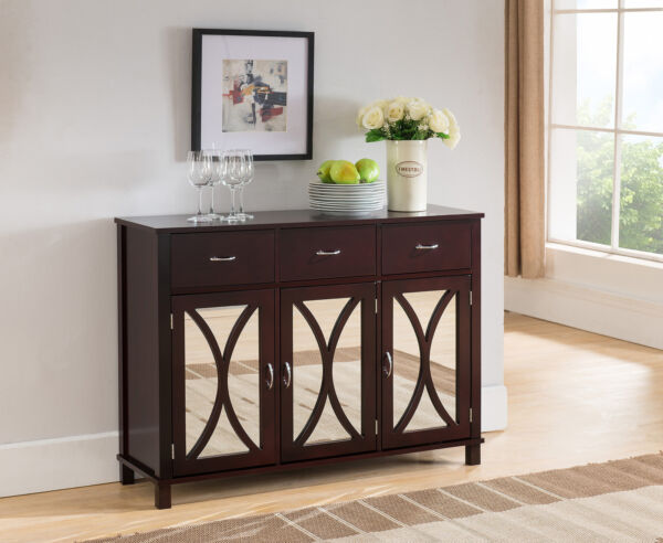 Kings Brand Furniture Odilon Buffet Server Cabinet Console Table Espresso