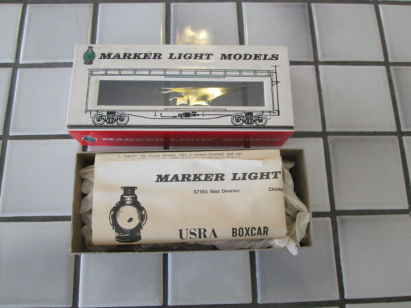 marker light models ILLINOIS CENTRAL wood box car kit HO scale $21.90