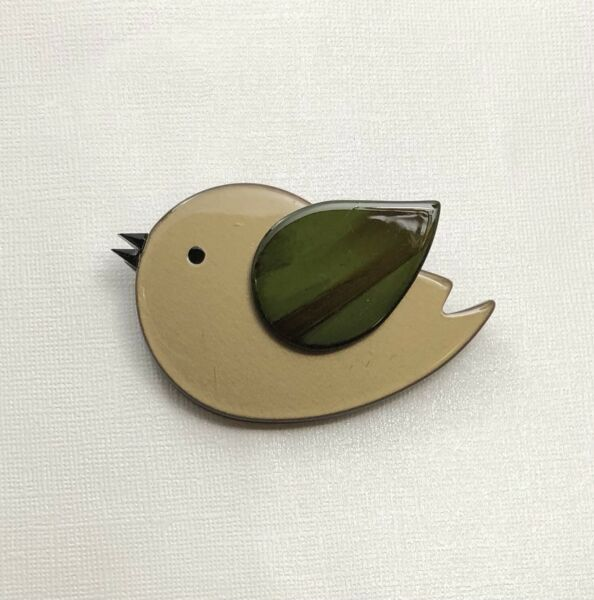 Unique large bird Pin Brooch in acrylic $14.00