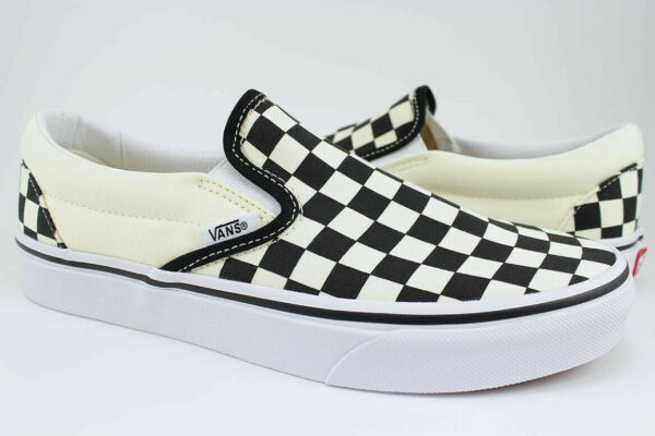 Vans Classic Slip On Black White Checkerboard Checker Check Canvas Men Women