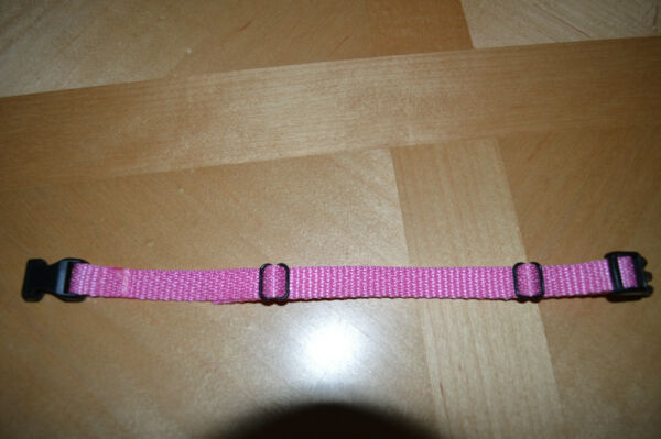 PINK CollarSafe Soft Nylon Puppy ID Snap Buckle Collars Litter Bands Straps $24.95
