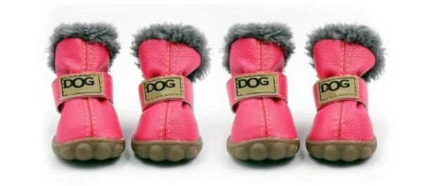Small Dog Snow Boots Pet Antiskid Dog Shoes Winter Waterproof Booties Boots $16.99