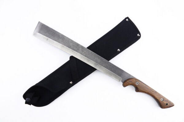 "20"" Hunting Survival Hand Forged Machete Knife 3CR13 Steel Sharp Blade Camping"
