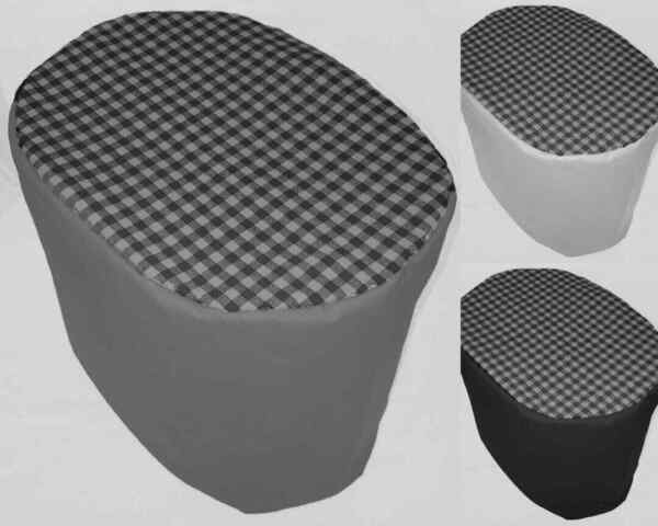 Canvas Black amp; Gray Buffalo Checked Cover Compatible w Keurig Brewing Systems