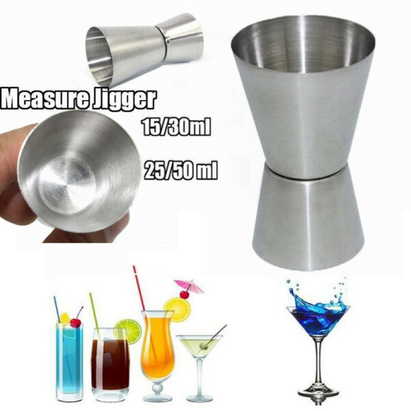Stainless Spirit Cocktails Measure Cup Jigger Alcohol Bartending Wine Bar US