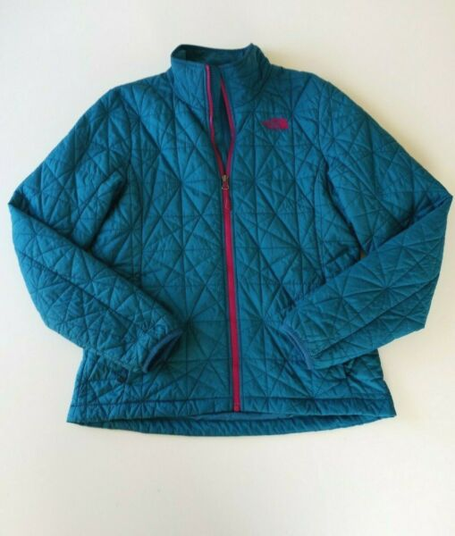 The North Face Women#x27;s Quilted Puffer Down Blue Jacket Coat Size M $27.99