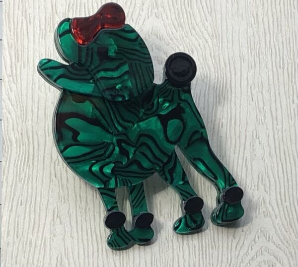 Unique Large poodle Pin Brooch In acrylic $18.80