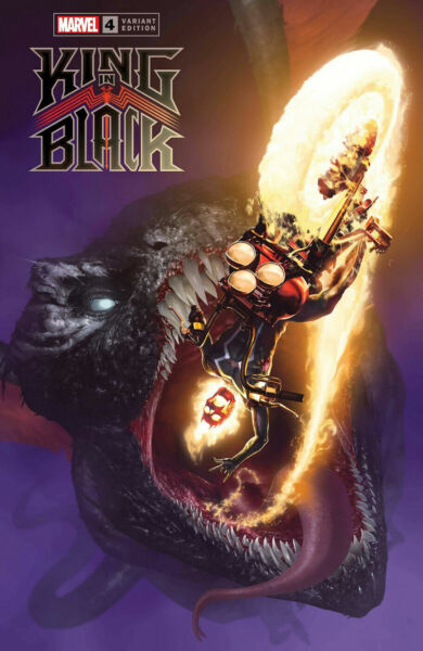 King In Black #4 2021 1:50 Rahzzah Dragon Variant Marvel Comics