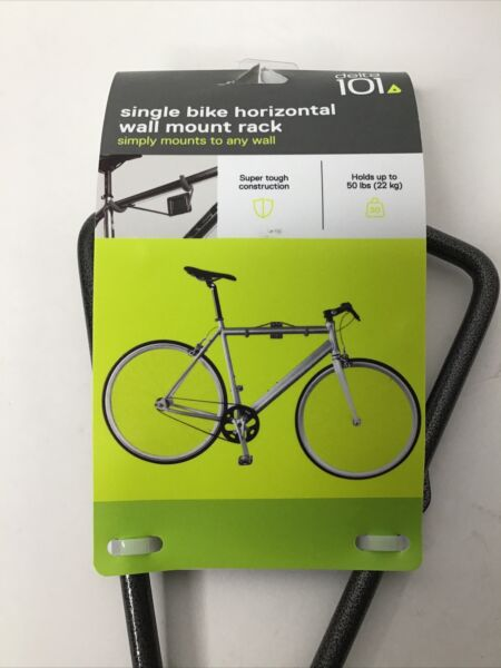 Delta 101 Single Bike Horizontal Wall Mount Rack Holds Up To 50lbs New $10.95