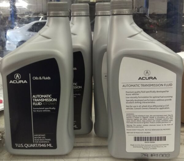 Genuine OEM Acura Honda Transmission Fluid ATF DW1 4 QUARTS