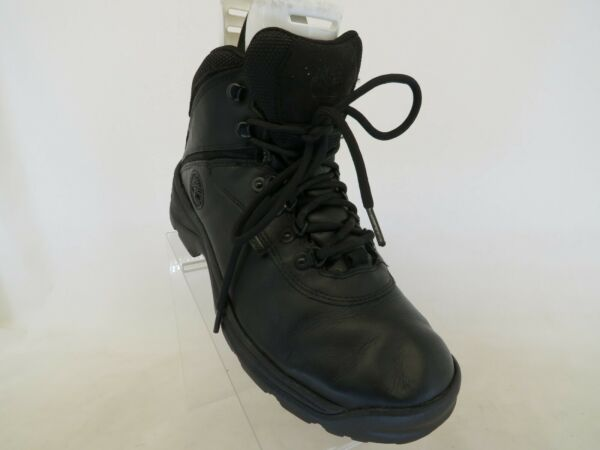 Timberland Black Leather Laces Ankle Work Boots Mens Size 9 M $77.99