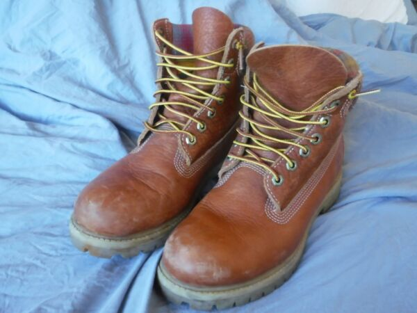 Mens Timberland Work Boots Size 8 W Pre OWned $39.99