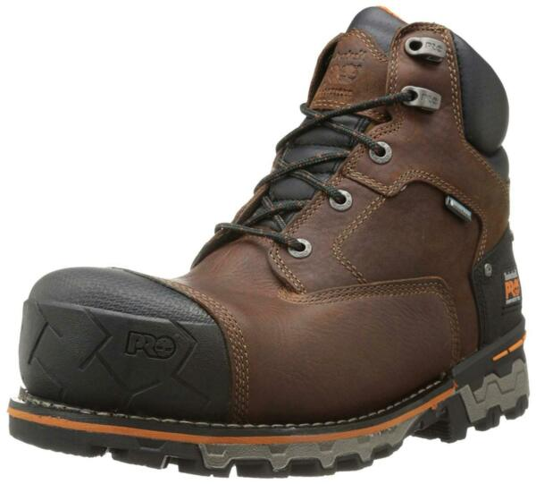 Timberland PRO Men#x27;s 6 Inch BoonDRCk Comp Toe WP Insulated Brown Size 11.5 GWs $86.57