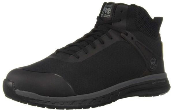 Timberland PRO Men#x27;s Drivetrain Mid Composite Toe Industrial Black Size 10.0 Y $60.00