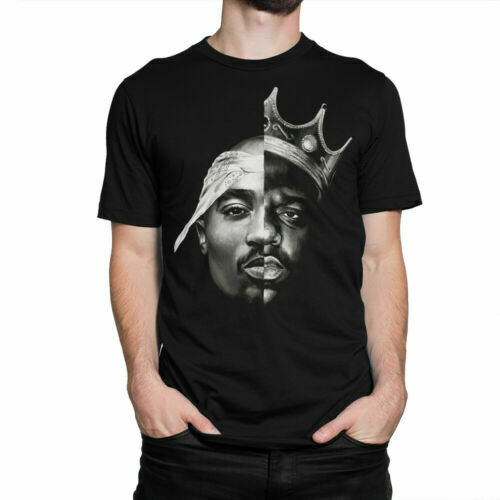 The Notorious B.I.G. x 2Pac Combo T Shirt Biggie Smalls and Tupac Legends Tee $16.50