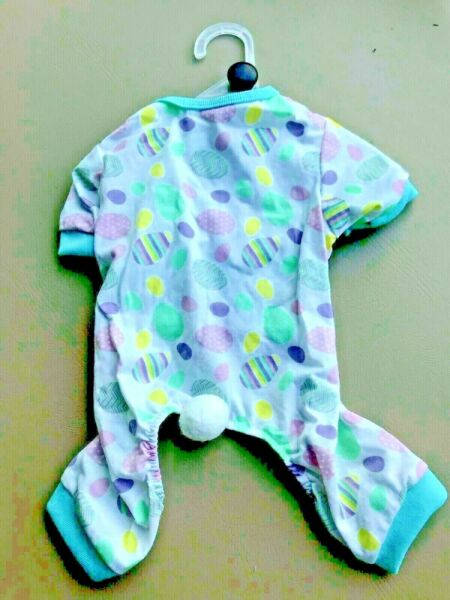 PET SPIRIT Multi Color quot;EASTER EGGSquot; Pajamas Puppy Dog MEDIUM NWT $18.50