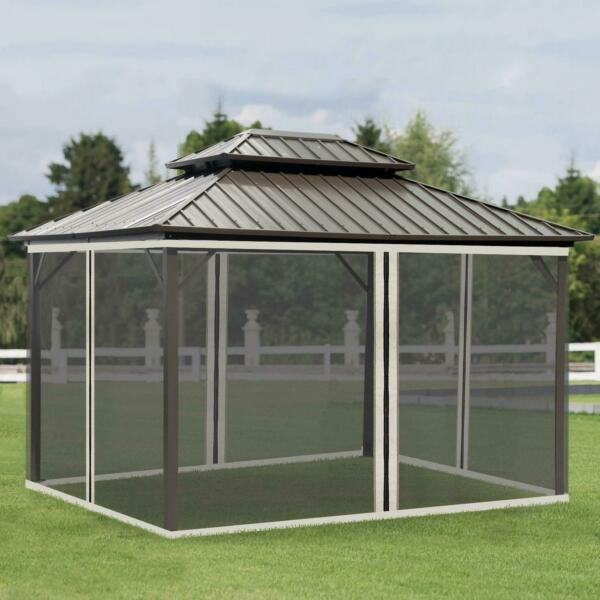 Replacement Mesh Mosquito Netting Screen Walls for 10#x27; x 13#x27; Patio Gazebo