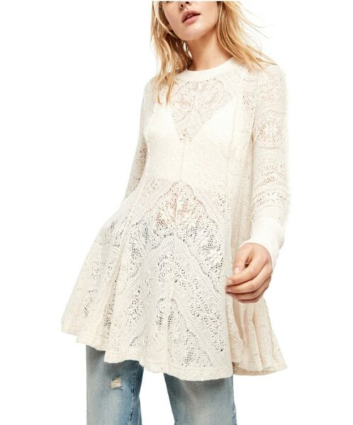 Free People Women#x27;s Coffee in The Morning Knit Top Chamoix Small