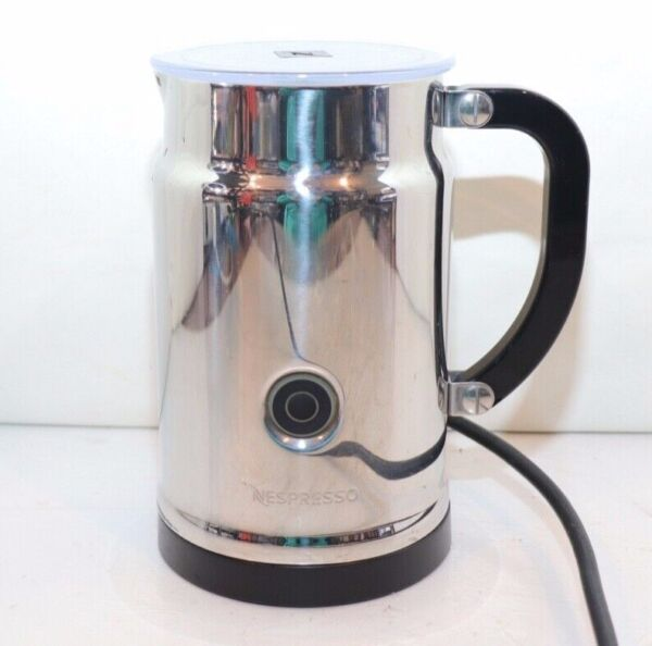 Nespresso Aeroccino Plus Milk Frother 3192 Capuccino Latte Automatic Stainless