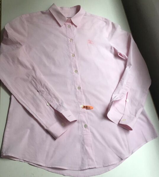 Burberry Brit Size S Women#x27;s Pink Button Front Blouse $39.00