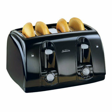 Sunbeam Cool Touch 4 Slice Black Toaster Model #: 3911100000